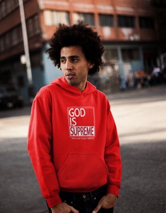 God is Supreme White Box/ Red Hoodie - God Is Supreme