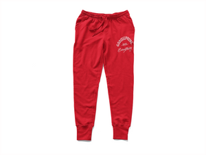 God is Supreme Over Everything Red Hoodie Jogger Set