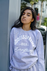 God Is Supreme Over Everything Unisex Long Sleeve Sweatsuit