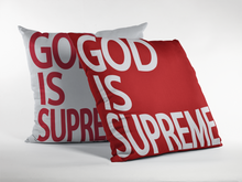 God is Supreme Rest Throw Pillow - God Is Supreme