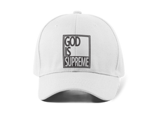 God is Supreme Logo Dad Hat White & Black - God Is Supreme
