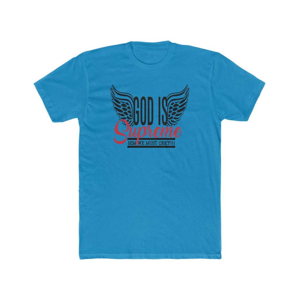 God Is Supreme Brand/ Fly High Wings Collection crew neck t-shirts Black Print