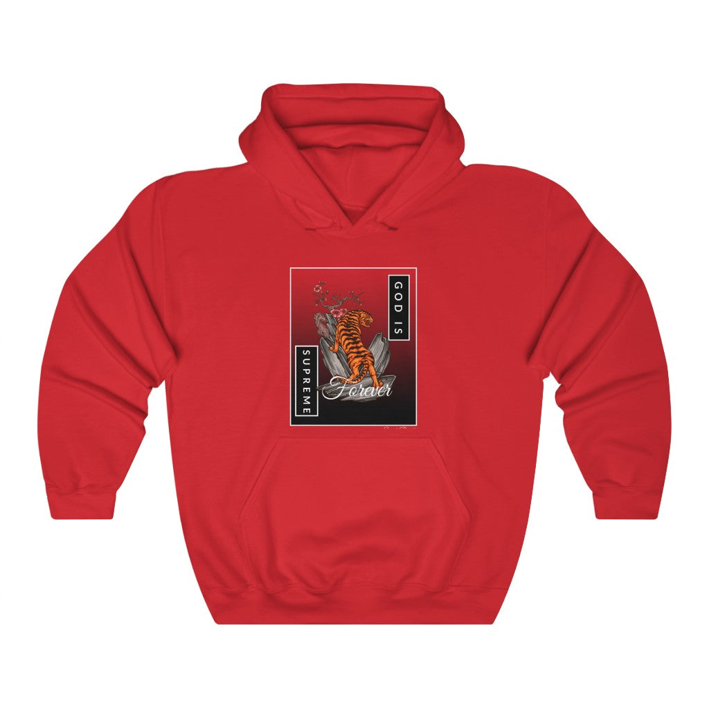 God is Supreme Forever Red Unisex Heavy Blend™ Hooded