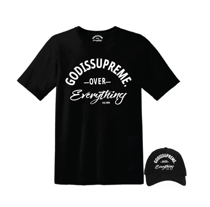 God is Supreme Over Everything Black Dad Hat - God Is Supreme