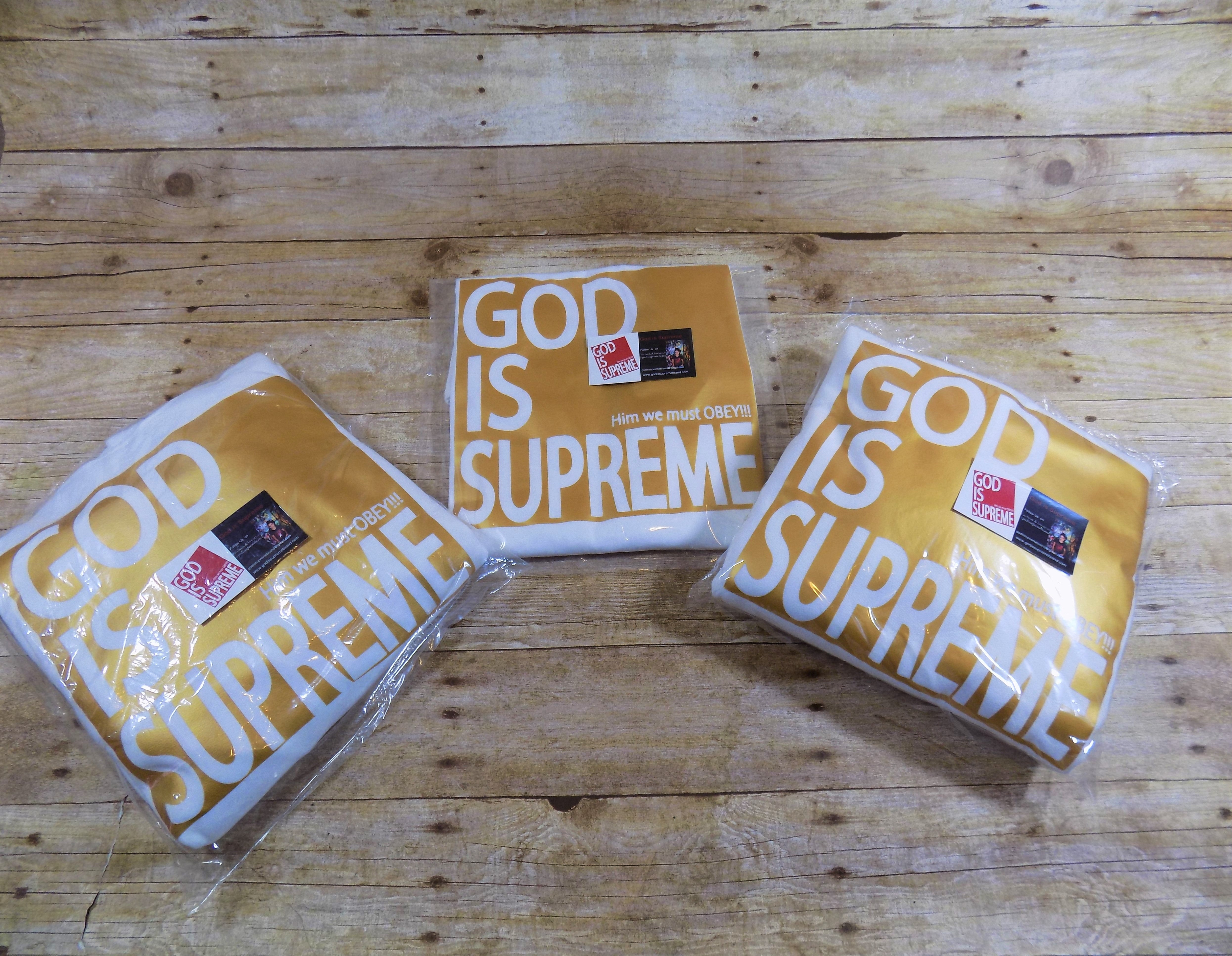 God is Supreme Gold Box / White T-shirt - God Is Supreme