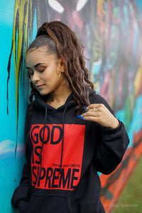 God is Supreme Red Box/ Black Hoodie - God Is Supreme
