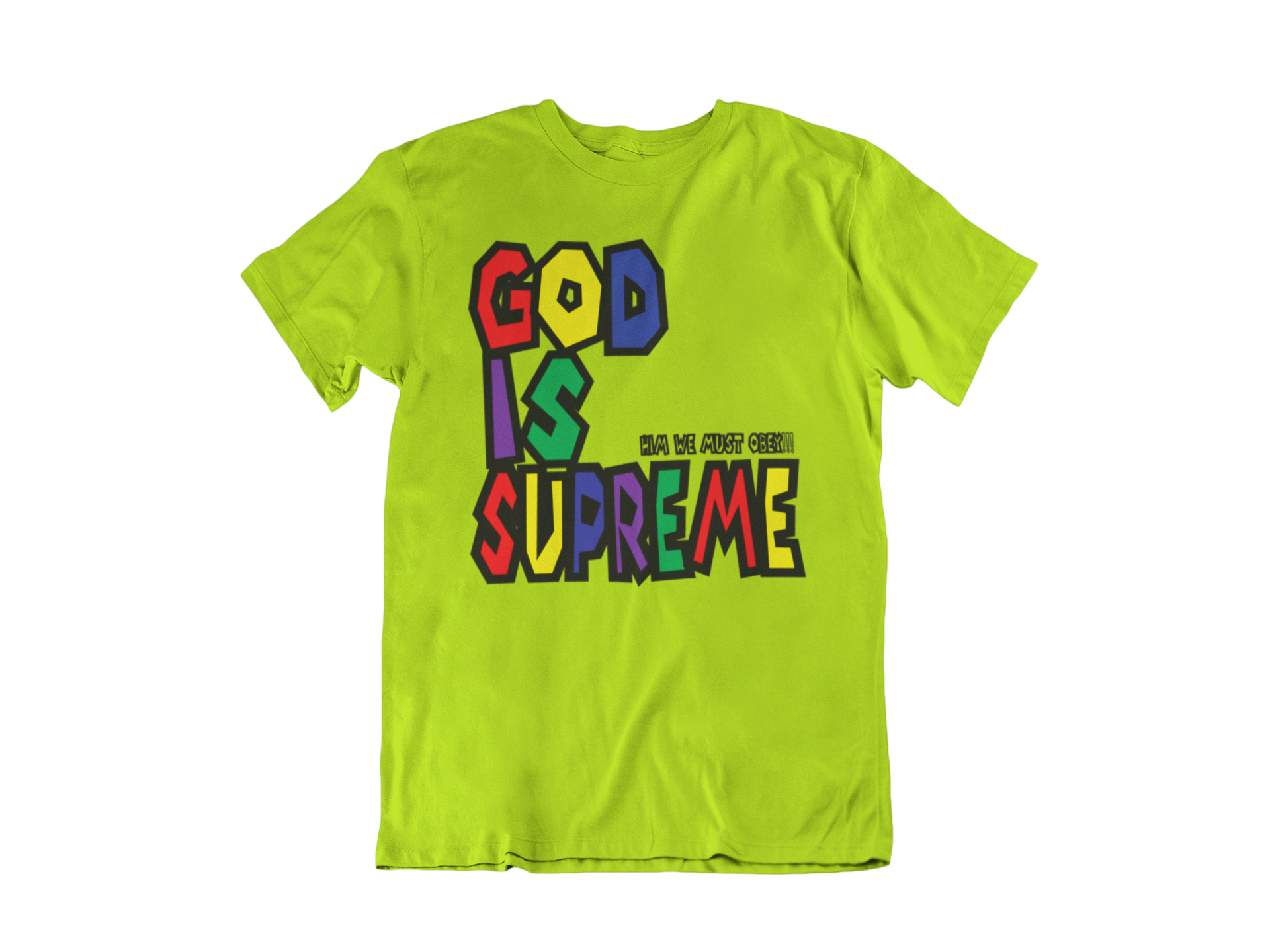 God is Supreme Wild Special Edition Lime T-shirt - God Is Supreme
