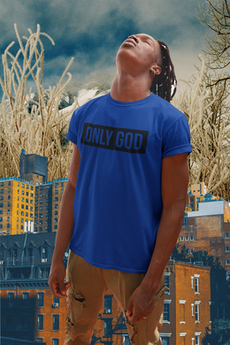 Only God (Black  Print)/ Blue T-shirt