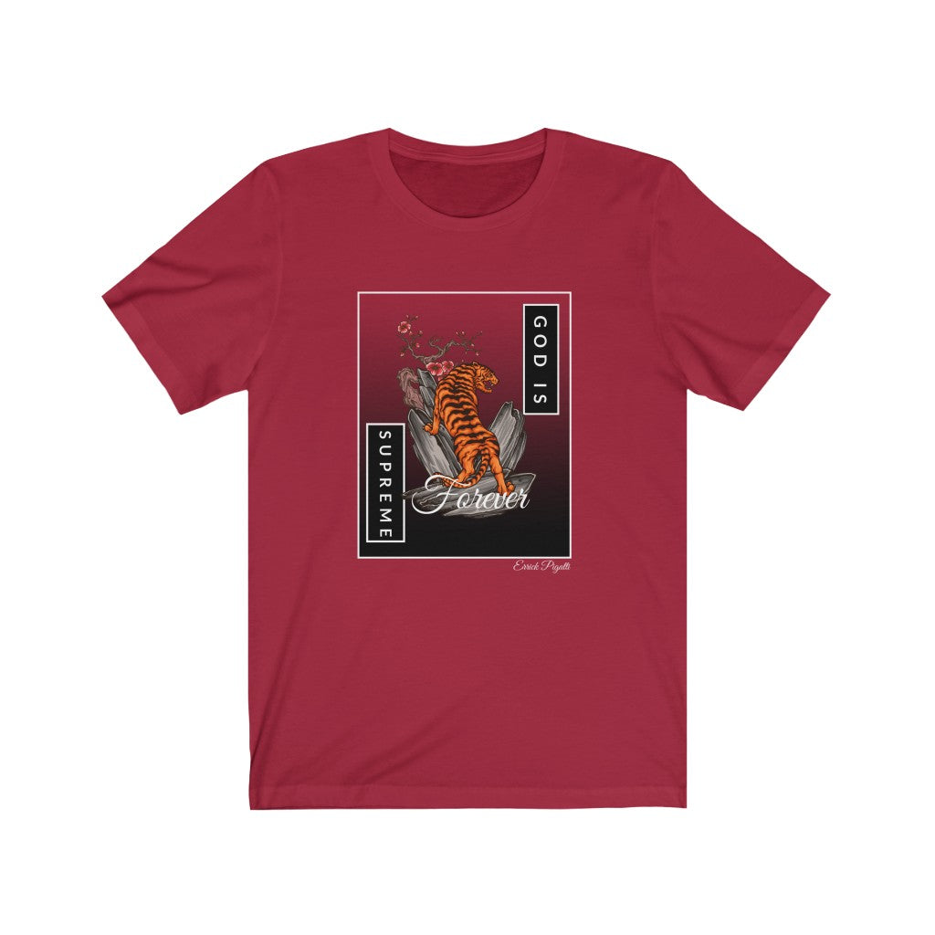 God is Supreme Forever ( Red, Unisex Tees)