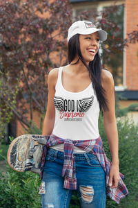 Fly High God is Supreme Women Tank Top (White)
