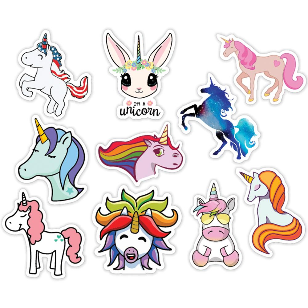 Unicorns Style 10 Pack of Laptop Stickers