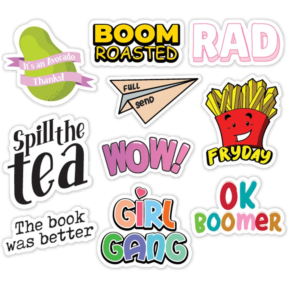MEME's Style 10 Pack of Laptop Stickers