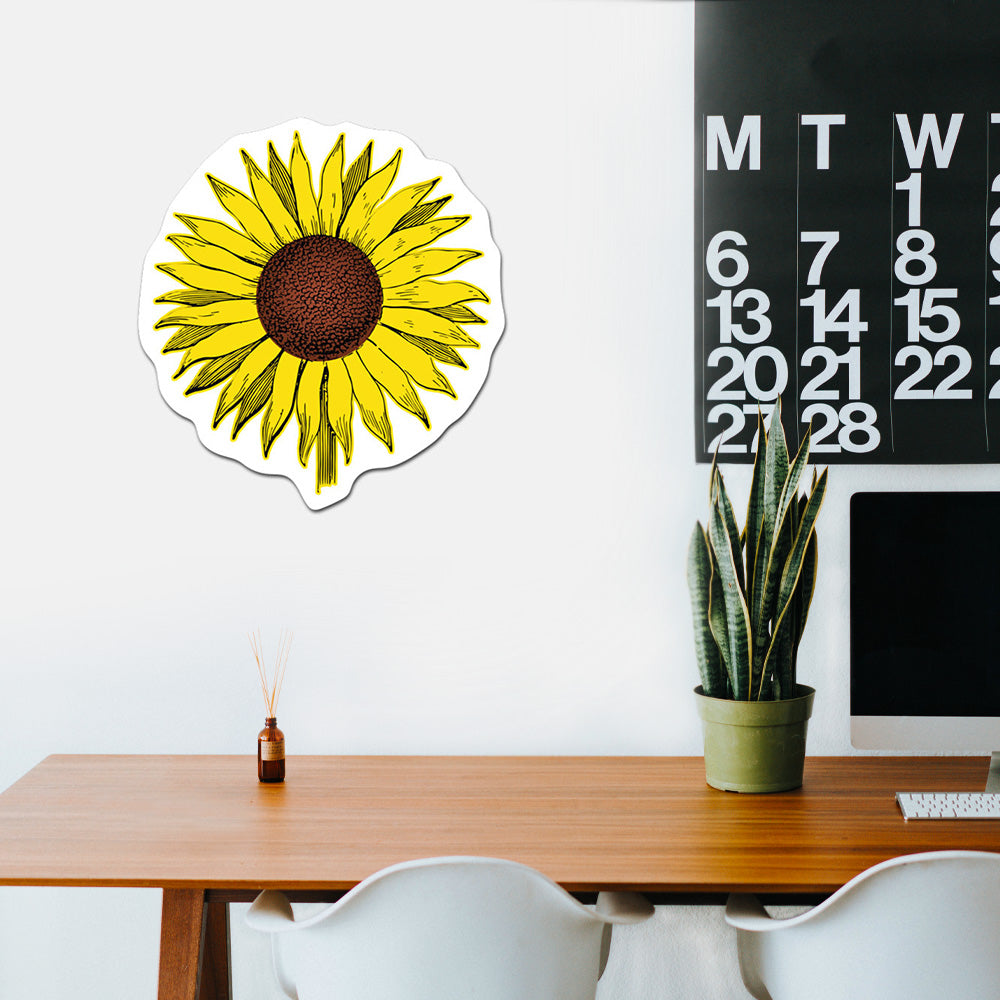 Sunflower Peel And Stick Wall Art