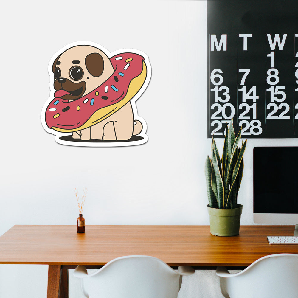 Donut Pug Peel And Stick Wall Art