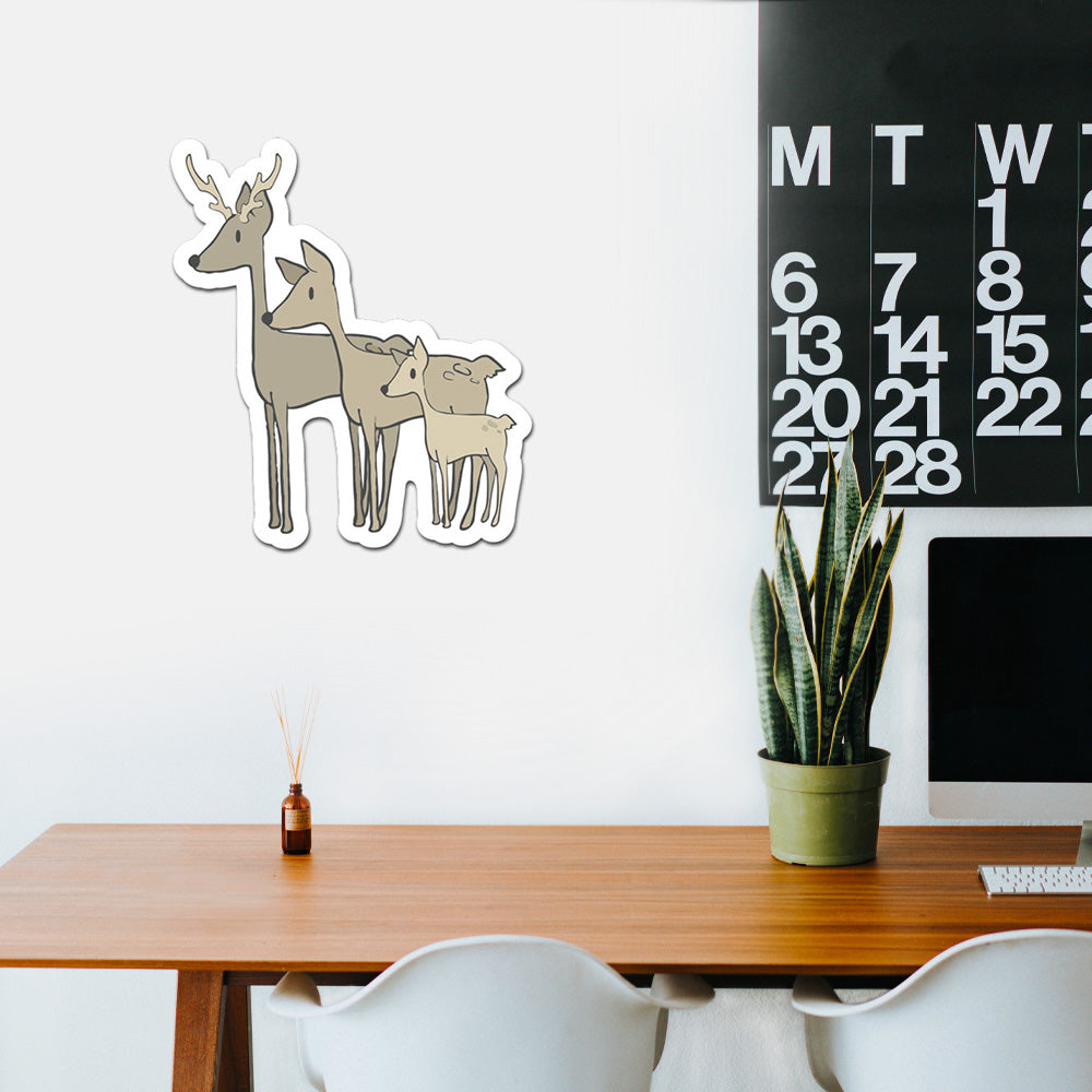 Deer Family Peel And Stick Wall Art