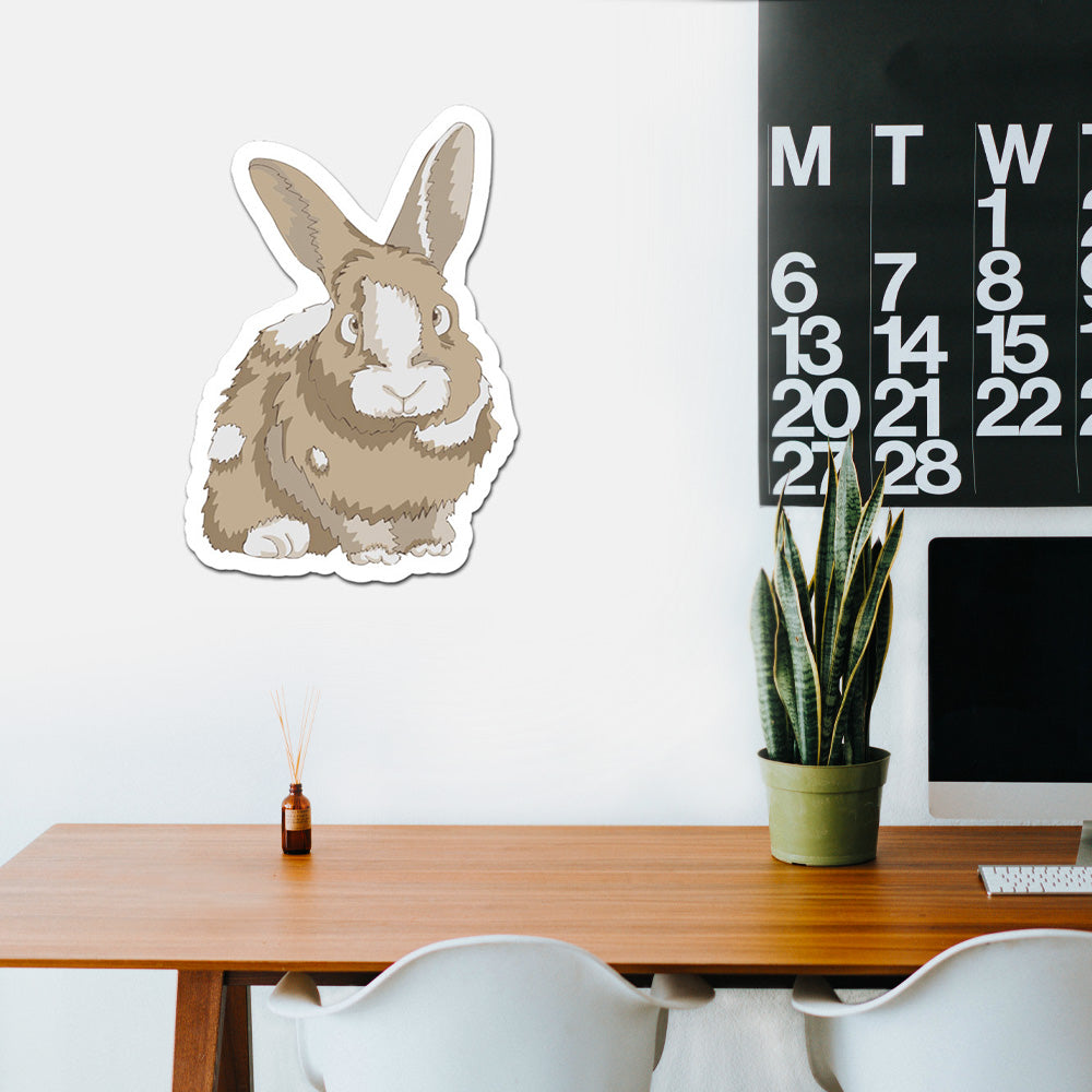 Bunny Realistic Peel And Stick Wall Art