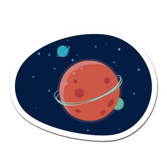 Space Laptop Sticker