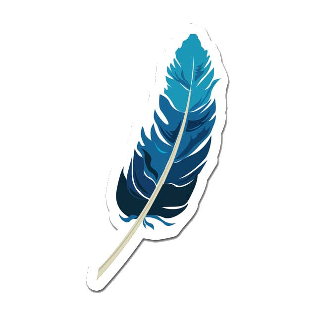 Feather Laptop Sticker
