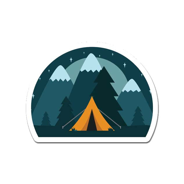 Camping Laptop Sticker