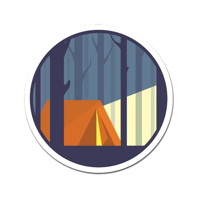 Camping In The Woods Laptop Sticker