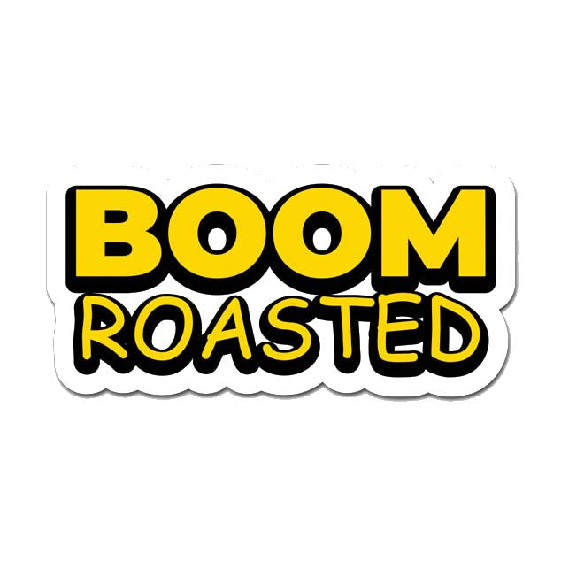 Boom Roasted Laptop Sticker