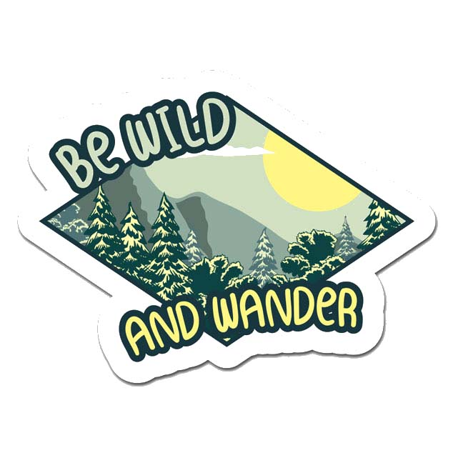 Be Wild And Wander Laptop Sticker