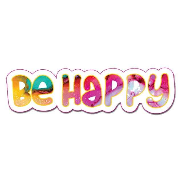 Be Happy Peel And Stick Wall Art