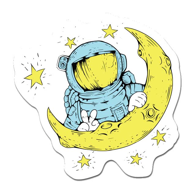 Astronaut Laptop Sticker