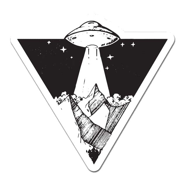 Alien Mountains Laptop Sticker