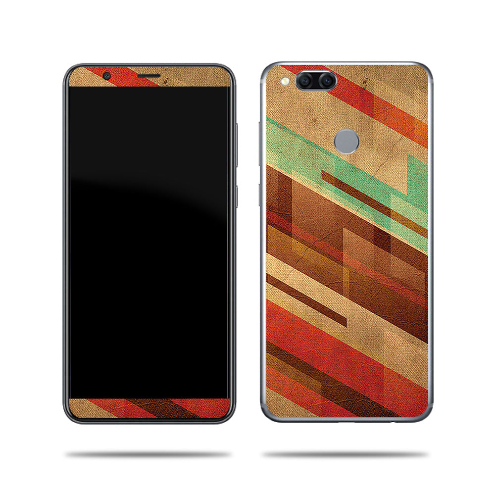 Abstract Wood Design For Huawei Mate SE 9 Skin