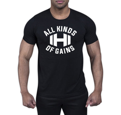All Kinds of Gains Black T-Shirt