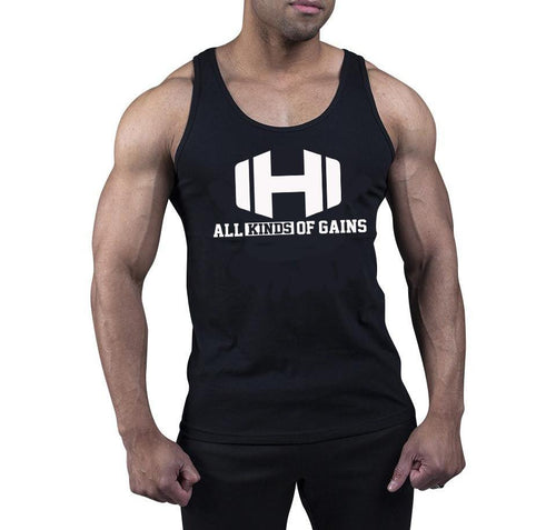 All Kinds Of Gains Logo Black Tank Top