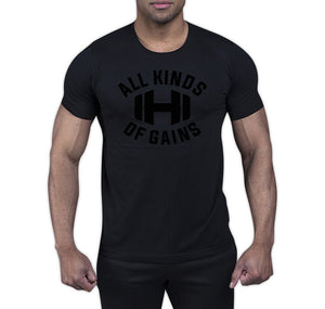 All Kinds of Gains Black Stealth T-Shirt