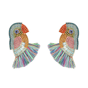Parrot Statement Earrings