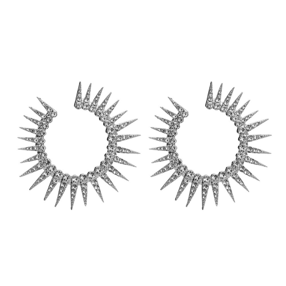 Spiked Hoop Earrings