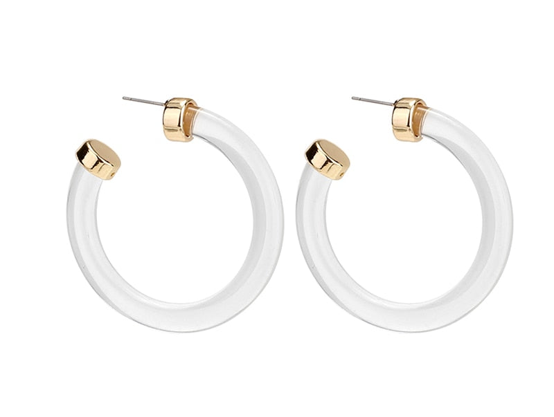 Glassy Glam Hoop Earrings