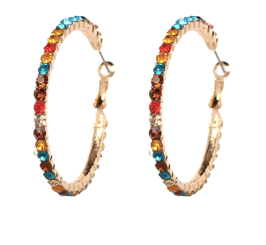 Candyland Hoop Earrings