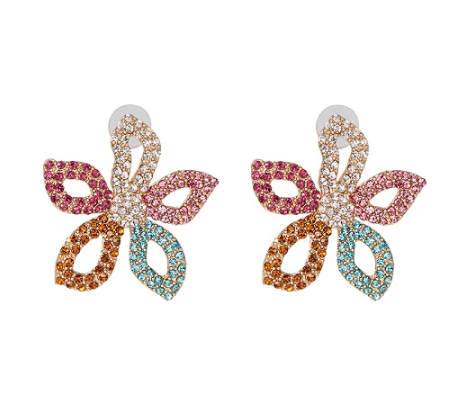 Flor Crystal Stud Earrings