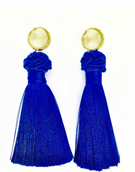 Clip-On Laurette Crown Tassel