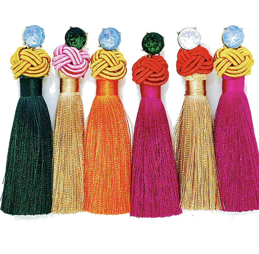 Annette Crown Tassel (Pinks, Reds, Oranges)