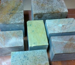Blocks of Brazilian Soapstone.