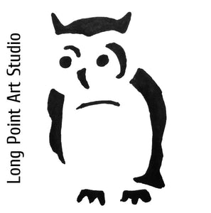 Screech Owl graphic for Long Point Art Studio