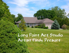Long Point Art Studio, Port Rowan, Ontario , Artist Cindy Presant
