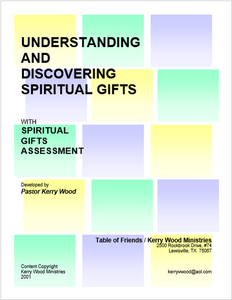 Understanding and Discovering Spirit Gifts (PDF)