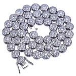 10mm Iced Round Tennis Chain