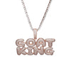 Custom Bubble Name Pendant - Rose Gold