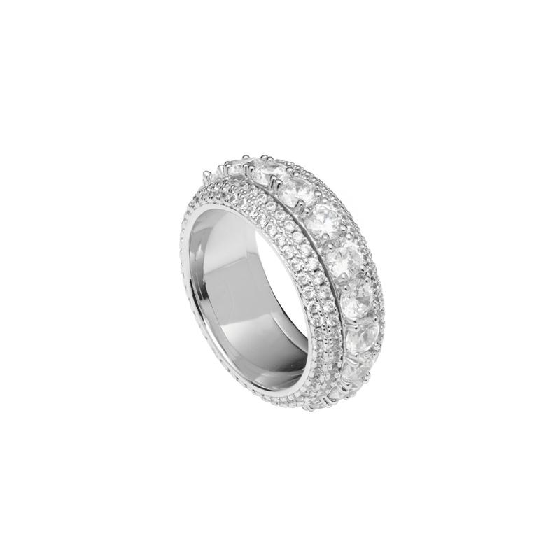 Iced Spinning Diamond Ring