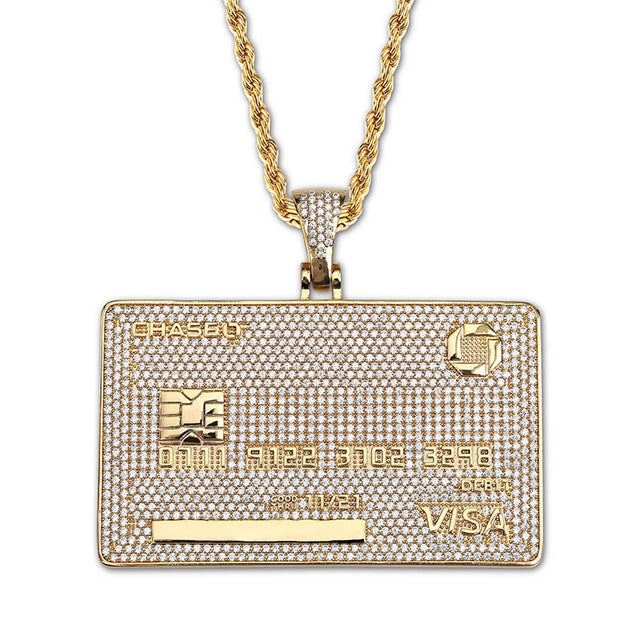 Custom Name Icy Credit Card Pendant - Icedoutluxury