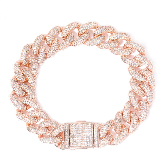 14mm Icy Cuban Link Bracelet - Icedoutluxury