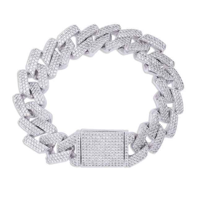Icy Micro paved 20mm Cuban Bracelet - Icedoutluxury